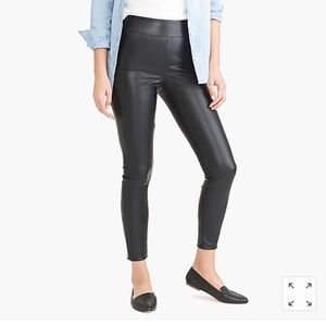 NWT J. CREW Vegan Leather leggings